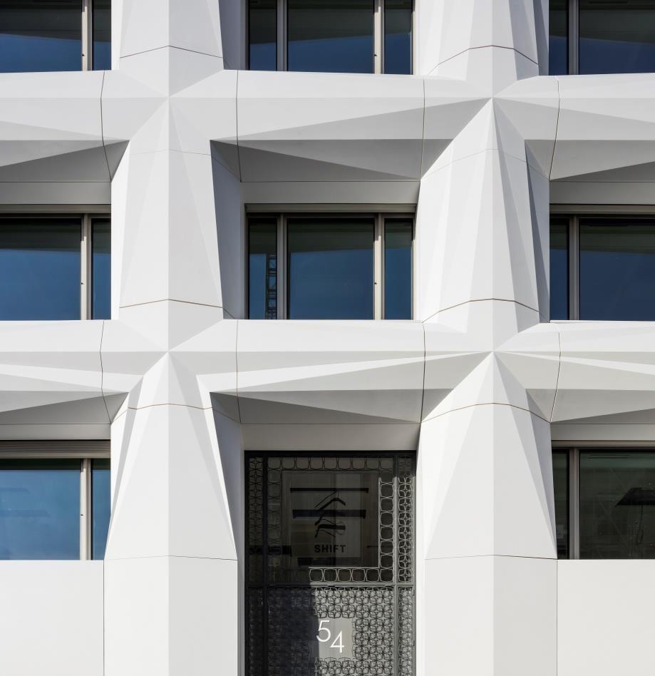 Spaces Rue De Londres the shift, paris: a building complex renovated with corian